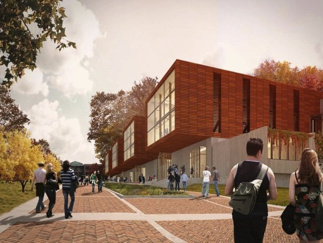 The proposal from the Collaborative of Toledo with Miller Hull of Seattle called for rectangular