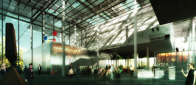 Honorable Mention in the New Bauhaus Museum Weimar competition: MenoMenoPiu Architects (Image: MenoMenoPiu Architects)