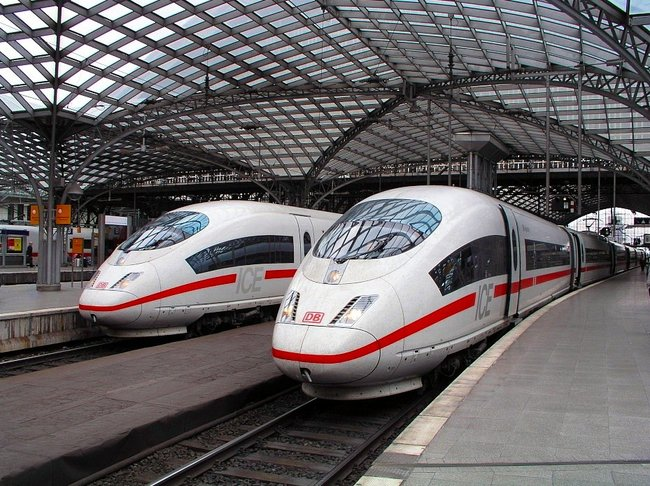 Deutsche Bahn's ICE high-speed trains, via wikipedia.org.