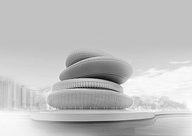 Competition entry for the new Busan Opera House by PRAUD (Image: PRAUD)