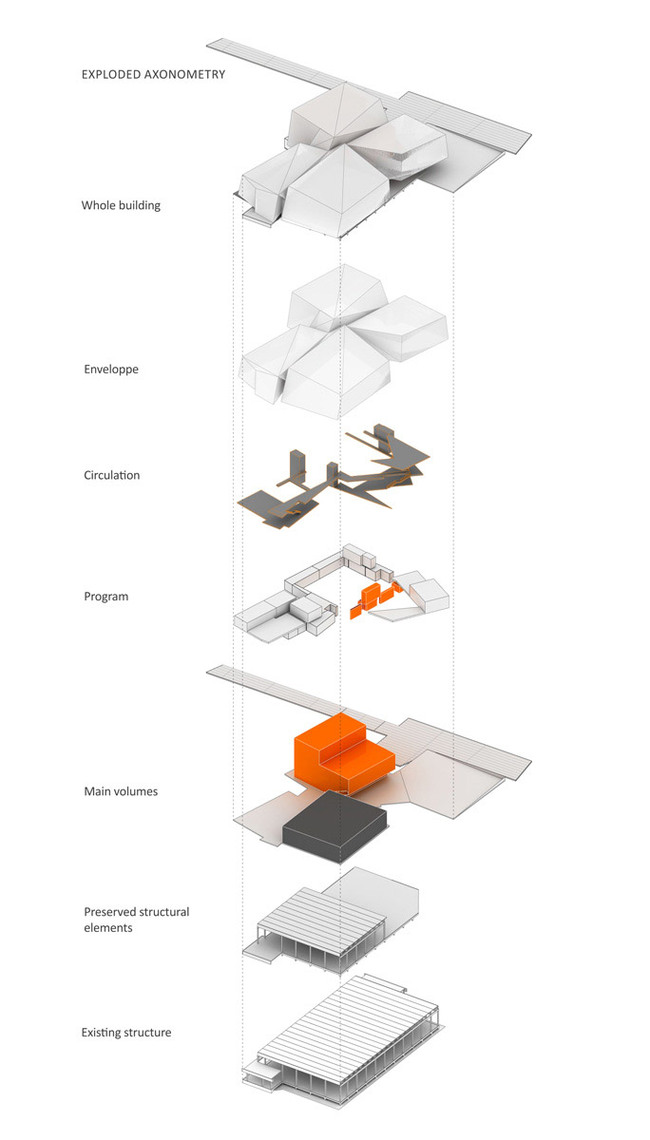 Exploded axo (Image: Saucier + Perrotte, Architectes)