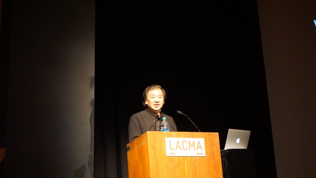 "Shigeru Ban delivered a lecture last night at the Los Angeles County Museum of Art entitled ""Works and Humanitarian Activities."" Credit: Nicholas Korody"