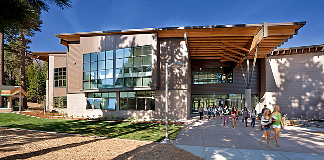 The Overcrowded Relief Grant funded classroom building at South Tahoe High School.