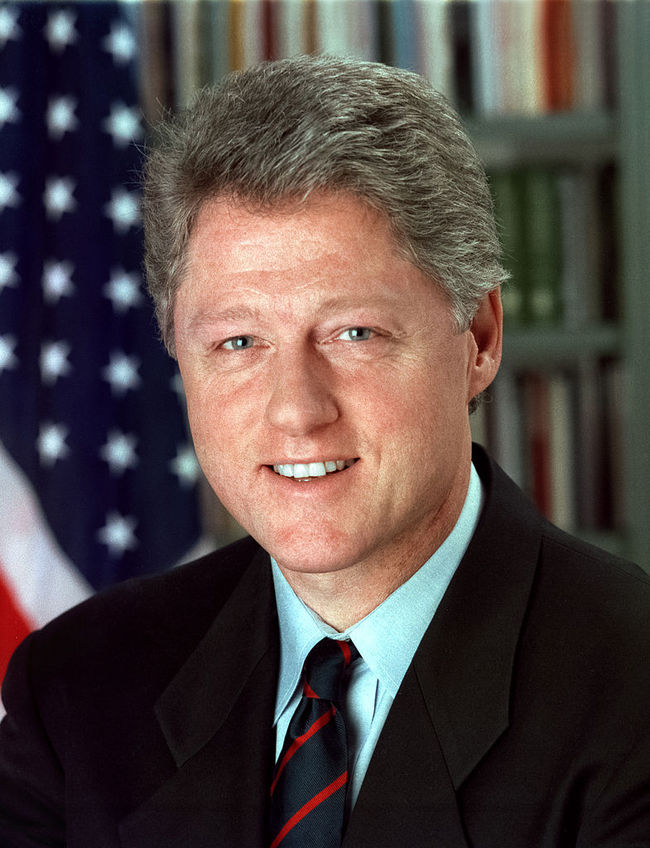 Former President Bill Clinton (image via Wikipedia).