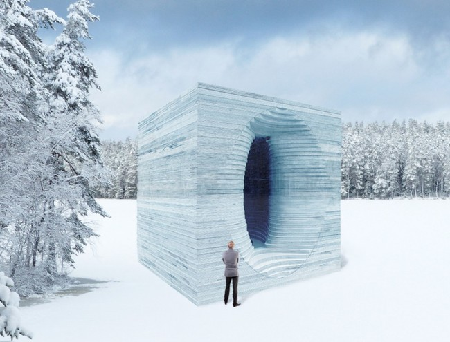 """Invited Warming Huts 2017 submission: """"Stackhouse"""" by Anish Kapoor."""