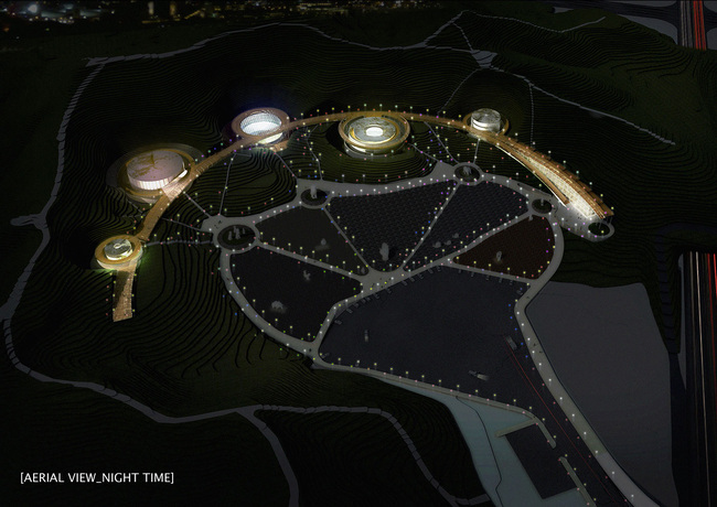 Night aerial view