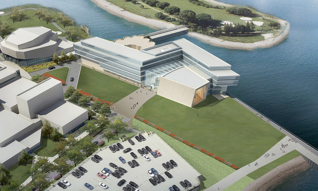 Aerial view (Image: Goettsch Partners)