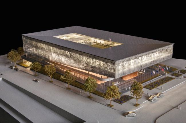 Rectilinear, sir! SHOP's renderings of the National Veterans Resource Complex. Image: SHOP Architects.