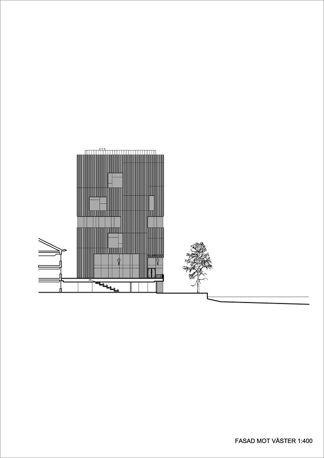 Elevation west (Illustration: Henning Larsen Architects)