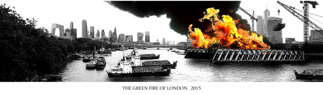 "Folly for London winner, ""Green Fire of London"" by Ben Weir"