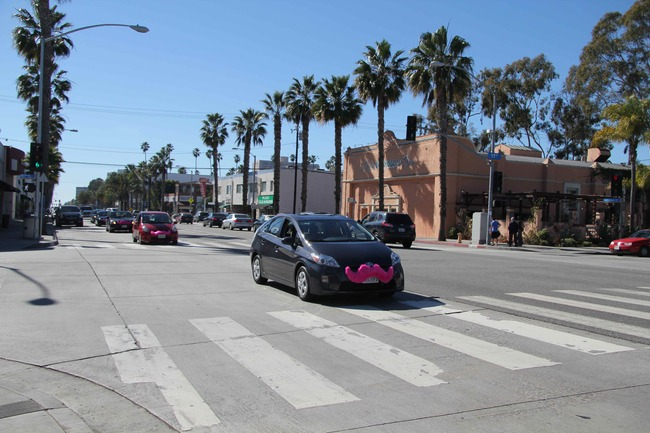Lyft in Los Angeles, image via la.streetsblog.org.