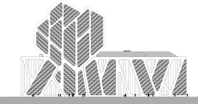 Facade front. Image courtesy of J. MAYER H. Architects