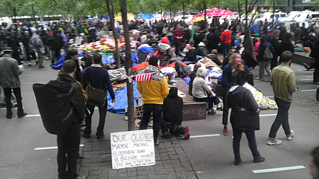 photo of #occupywallst via Aaron Plewke