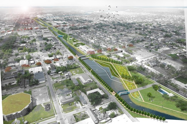 Environmental architect David Waggonner wants New Orleans to embrace its identity as a delta city instead of hiding this asset. (Image: The Greater New Orleans Urban Water Plan, via theatlantic.com)