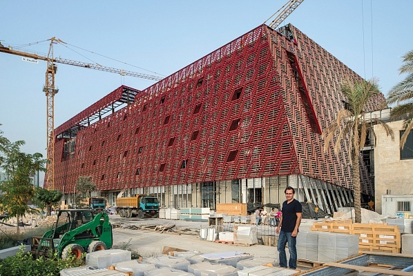 A new, privately-funded contemporary art museum, designed by David Adjaye, goes up in Jal El Dib, a coastal town near Beirut. (Image via theartnewspaper.com)