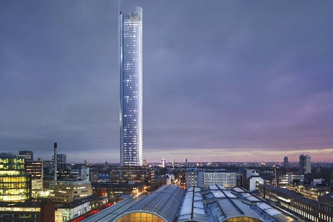 A rendering of the proposed tower. Credit: Handout via the Guardian