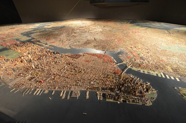 The Panorama of the City of New York, created by Raymond Lester Associates (Urban Omnibus; Photo by Chris Devers)