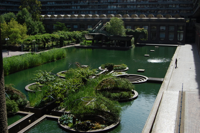 Barbican Estates in London. Image via Wikipedia/Andy Mabbett.