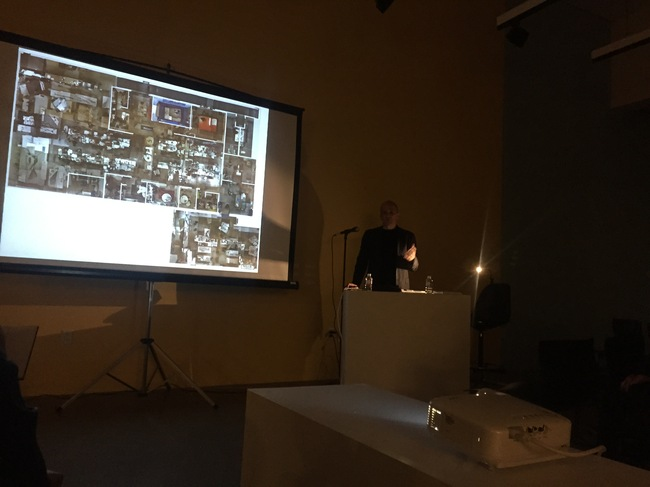 Michael Maltzman delivering his talk at the A+D Architecture and Design Museum in Los Angeles. Credit: N. Korody