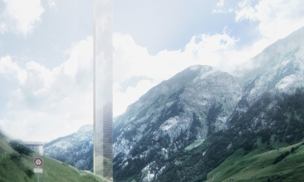 "The 381m tall subject of heated debate: Thom Mayne's proposed ""minimalist act"" hotel tower, soon to become Europe's tallest skyscraper. (Rendering: Morphosis; Image via theguardian.com)"