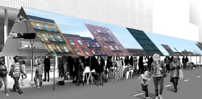 "Exterior rendering of Davidson Rafailidis' ""MirrorMirror"" tents (Image: Davidson Rafailidis)"