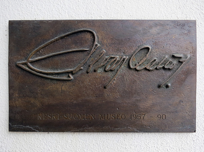 Alvar Aalto Signature at his museum in Jyväskylä