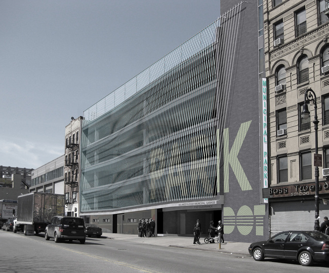 Projects Merit Award Winner: Delancey + Essex Municipal Parking Garage in New York, NY by Michielli + Wyetzner Architects (Image Credit: Michielli + Wyetzner Architects)