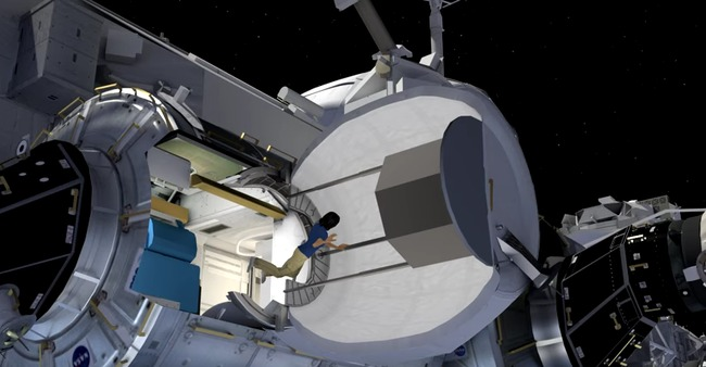 Screenshot of NASA's BEAM installation.
