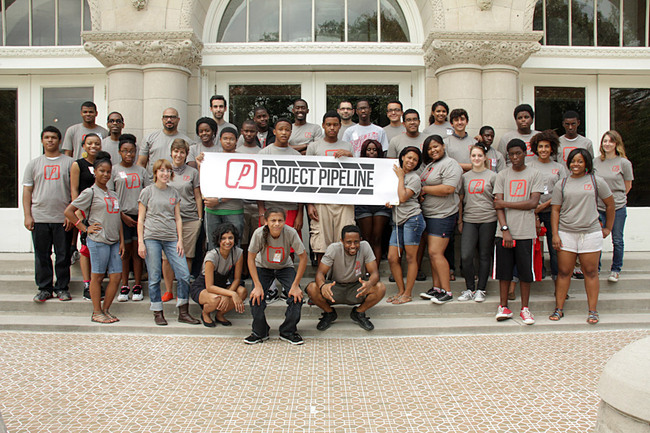 New Orleans high school students participating in the inaugural Project Pipeline Architecture and Design Camp