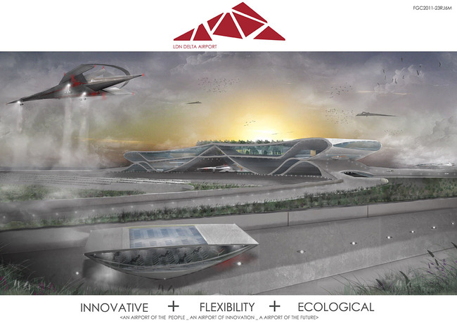 GRAND PRIZE WINNER: LDN Delta Airport by Oliver Andrew, London South Bank University, London