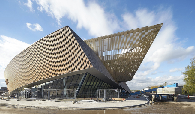 Studio Libeskind's latest building, the International Congress Xperience building in Mons, Belgium, opened today. Photo: Hulton+Crow