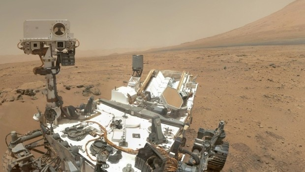 Selfie by the Curiosity rover over in Gale crater on Mars. Credit: NASA/JPL-Caltech/MSSS.