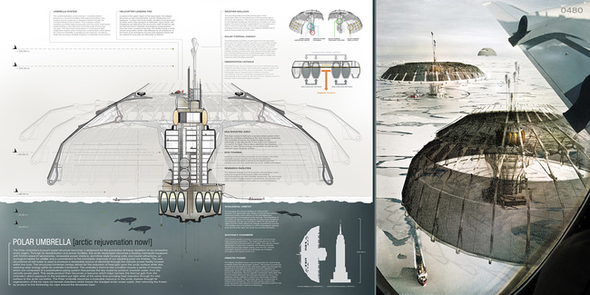 Evolo 2013 Skyscraper Competition-First Place- Polar Umbrella, Derek Pirozzi (United States)