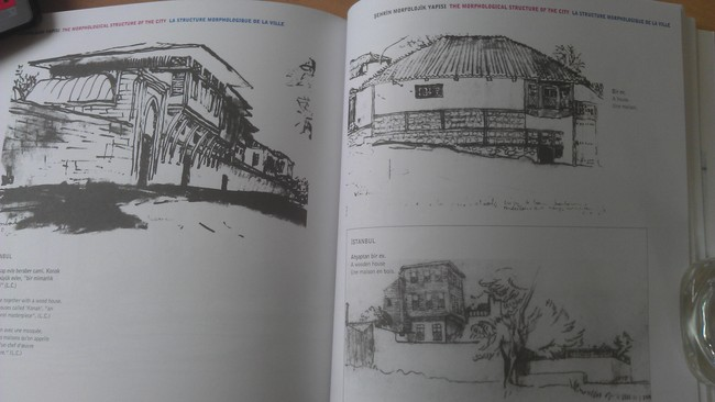 Corbusier's sketches of wood houses