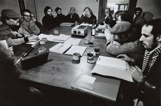 Image: Group discussions, Sambuca, 1974, Archive Adolfo Natalini — with Valerio Borgonuovo and Silvia Franceschini