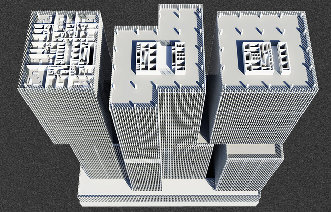 Perspective Plan, High Rise. © OMA