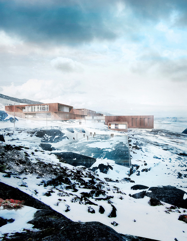Exterior rendering of the new Nuuk correctional facility (Image: schmidt hammer lassen architects)