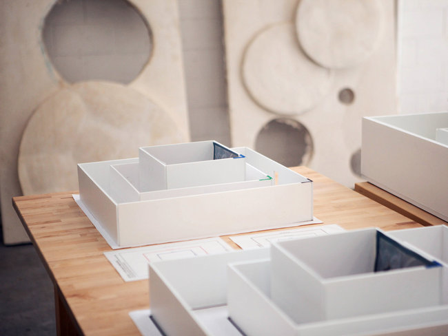 maquettes for 'Moun Room' Sam Comen for the NYT