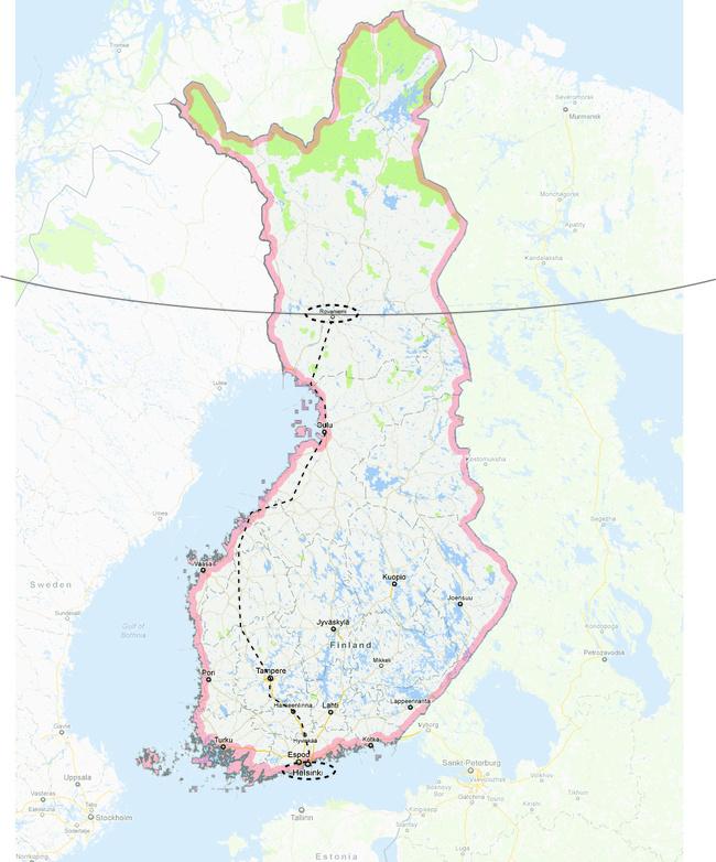 VR Train Trip from Helsinki to Rovaniemi