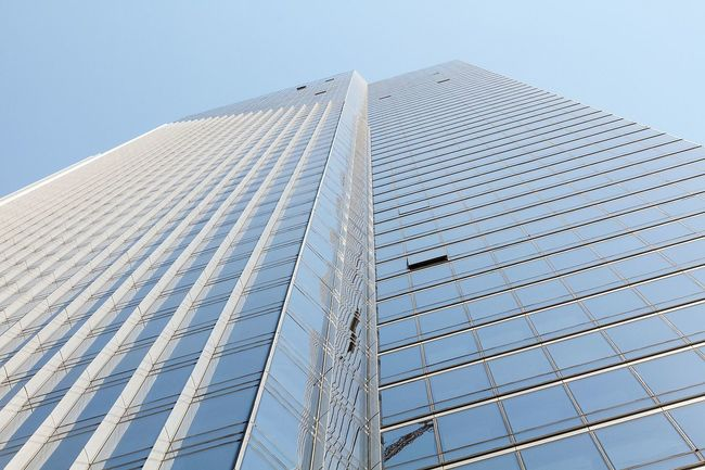 When does a 58-story-tower lean too much? SF's luxury Millennium Tower currently tilts about 6 inches to the northwest corner. Photo: Frank Schulenburg; Image via Wikipedia.