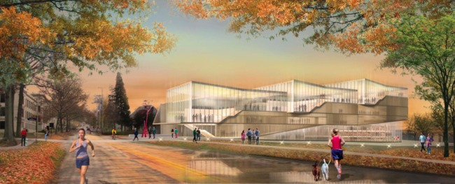 The Weiss-Manfredi and Bowen proposal for the KSU building called for a light, transparent structure.
