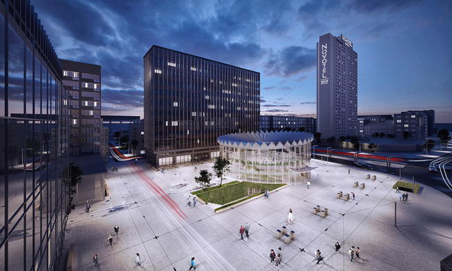 GowinSiuta Studio's winning design for the Warsaw Rotunda. Image: Gowinsiuta Studio.