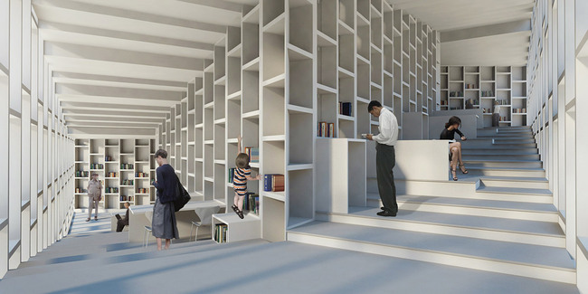 Library interior (Image: studio SH)