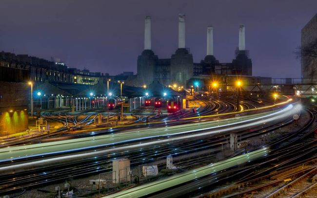 When urbanism reaches a particular pitch of intensity; view towards Battersea power station, London. Photo by JH Images/Getty, via Aeon Magazine