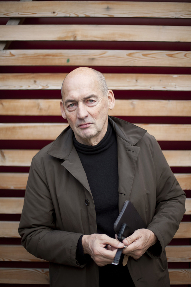 Rem Koolhaas, via Strelka Institute for Media, Architecture and Design / flickr.