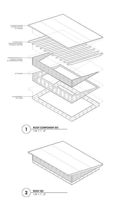 Roof Detail for Mechanical Shed via Michael Villegas