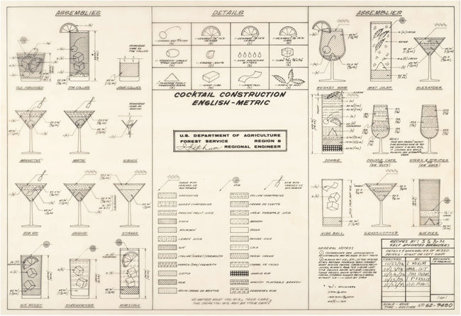 Recently dug up from the National Archives: This U.S. Forest Service Cocktail Construction Chart from 1974.