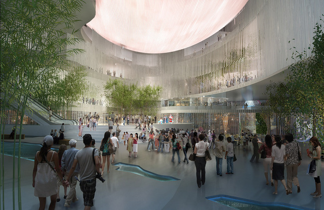 View inside the atrium (Image: West Kowloon Cultural District Authority)
