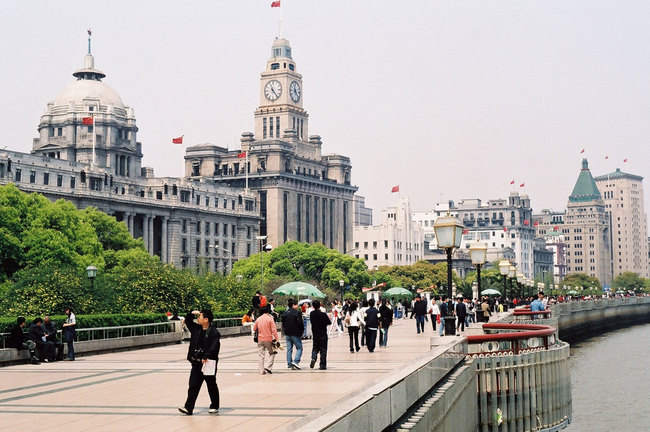 Bund in Shanghai (via Wikipedia)