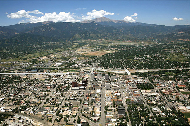 Downtown Colorado Springs, the museum's future site. Photo via usolympicmuseum.org